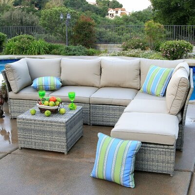 Burress 7 Piece Sectional Seating Group with Cushions