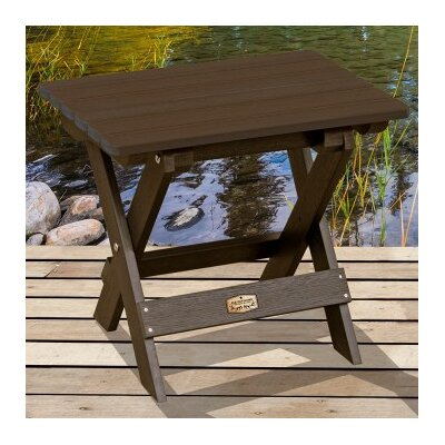 Cadey Essential Folding Side Table Top Finish: Brown