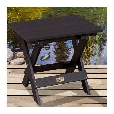 Cadey Essential Folding Side Table Top Finish: Black
