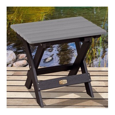 Cadey Essential Folding Side Table Top Finish: Black/Gray