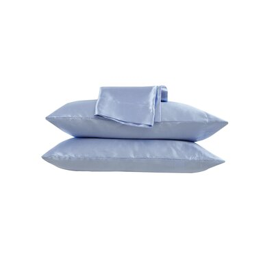 Simen Satin Pillow Case Color: Blue