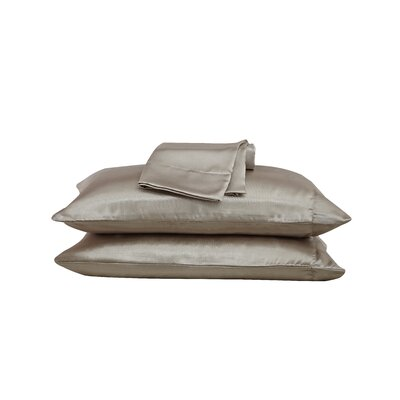 Thao Satin Pillow Case Color: Mocha