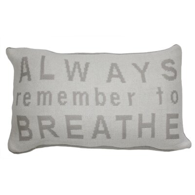 Always Remember to Breath Lumbar Pillow