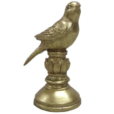 Ceramic Bird On Pedestal Figurine