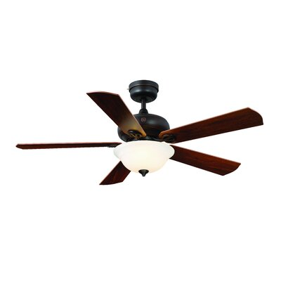 52 Skyplug Selena 5 Blade Ceiling Fan with Remote Finish: Bronze with Dark Walnut Blades