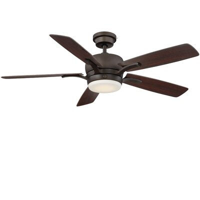 54 Skyplug Adley 5 Blade LED Ceiling Fan with Remote Finish: Bronze with Dark Walnut/Cherry Blades