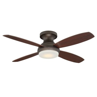 52 Skyplug Pierson 4 Blade LED Ceiling Fan with Remote Finish: Bronze with Dark Walnut/Cherry Blades