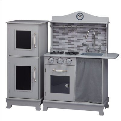 Cottage Play Kitchen Finish: Gray