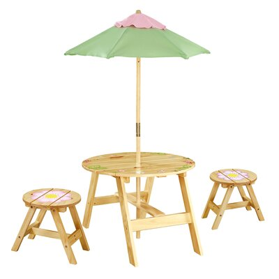 Teamson Kids Magic Garden Kids' 4 Piece Table and Chair Set at Sears.com