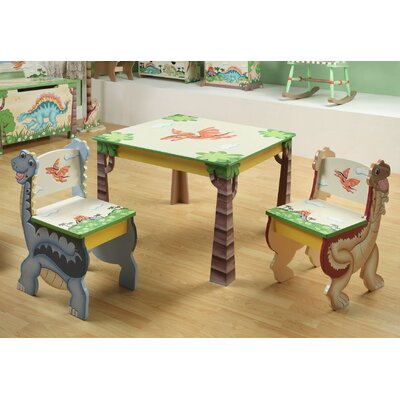 Teamson Kids Dinosaur Kingdom Children's 3 Piece Table and Chair Set at Sears.com