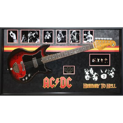 AC/DC 'Highway To Hell' Custom Framed Custom Framed Autographed Guitar BRAY5831 38976365