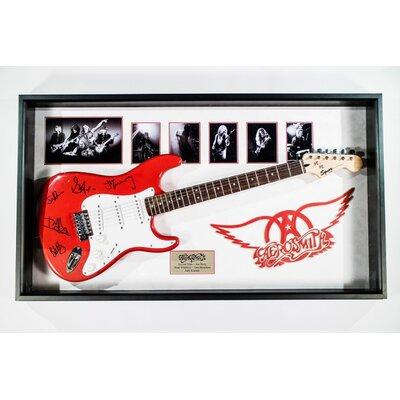 Autographed Aerosmith Guitar Framed Vintage Advertisement BRAY5832 38976368