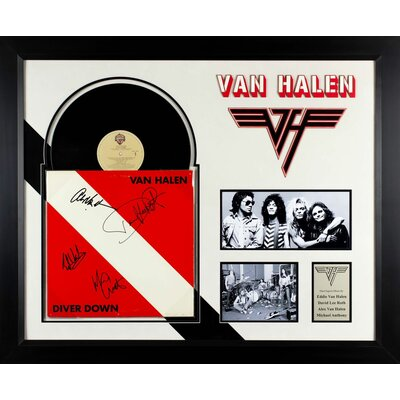 Autographed Van Halen Album 'Diver Down' Framed Vintage Advertisement