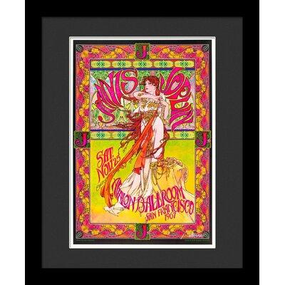 'Janis Joplin' Framed Vintage Advertisement