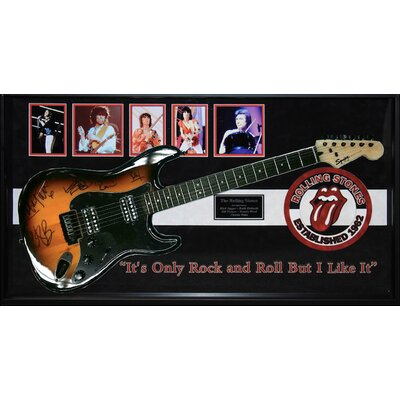 Autographed Rolling Stones Guitar 'Its Only Rock & Roll But I Like It' Framed Vintage Advertisement BRAY5838 38976391