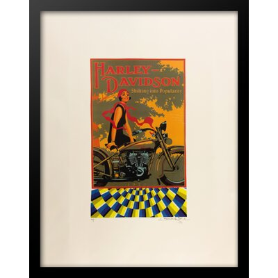 'Harley Davidson Motorcycles' Framed Vintage Advertisement 50986908C0A6437AA6F0376D3C820D3C