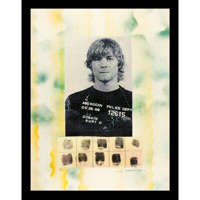 �Cobain Mugshot� 'Kurt Cobain' Framed Fairchild Paris Wall Art ESUM1108 43155554