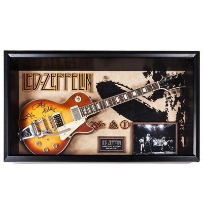 Led Zeppelin Autographed Custom Framed Guitar LEDZEPPELIN-ZOSO
