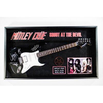 Motley Crue Custom Framed Autographed Guitar SG-MOTCRUE