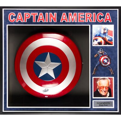Captain America Shield Autographed by Stan Lee LWMV1-00043