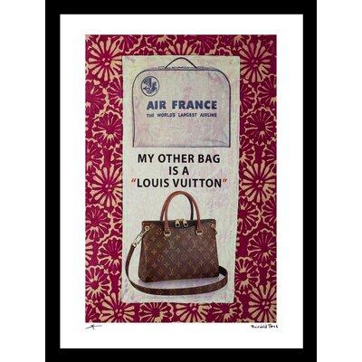 'My Other Bag' Framed Vintage Advertisement Size: 16