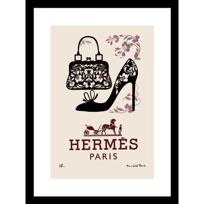 'Bags and Shoes' Framed Vintage Advertisement Size: 16