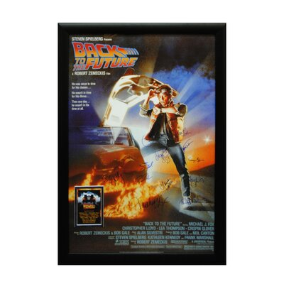 Back To The Future Autographed Movie Poster BACK