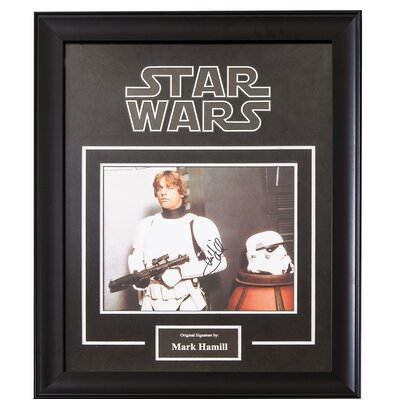 Star Wars Autographed Stormtrooper suit by Mark Hamill as Luke Skywalker STARWARSLUKE