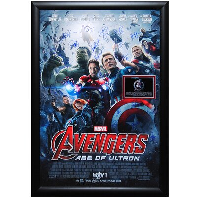 "The Avengers - Age Of Ultron"" Movie Poster Autographed by the Cast LW-130728"