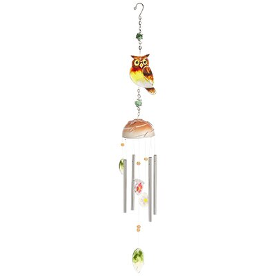 Glass Owl Wind Chime IL2570A