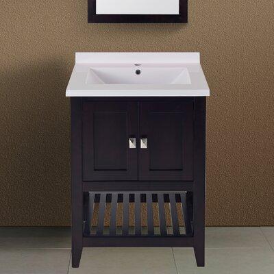 Lynwood 25 Single Bathroom Vanity Set Top Finish: Espresso
