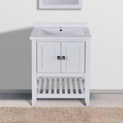 Marlee 25 Single Bathroom Vanity Set Top Finish: White