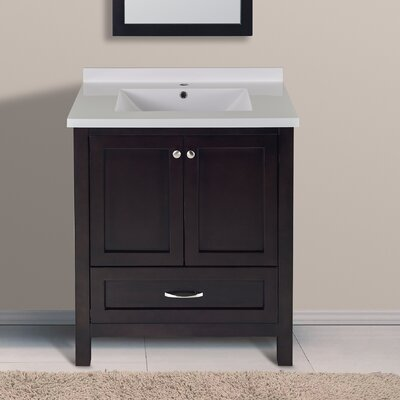 Florence 31 Single Bathroom Vanity Set Top Finish: Espresso