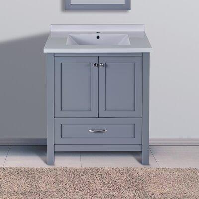 Maldonado 30 Single Bathroom Vanity Set Top Finish: Gray