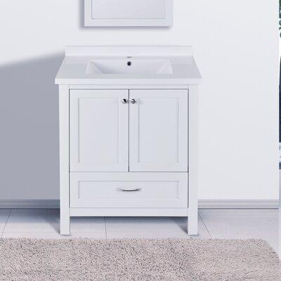 Maldonado 30 Single Bathroom Vanity Set Top Finish: White