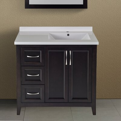 Floyd 37 Single Bathroom Vanity Set Top Finish: Espresso