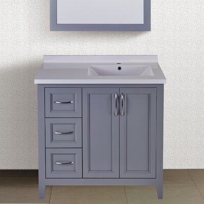 Floyd 37 Single Bathroom Vanity Set Top Finish: Gray