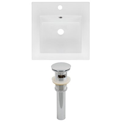Ceramic 17 Single Bathroom Vanity Top Faucet Mount: Single