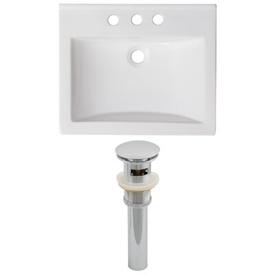 Omni Ceramic 21 Single Bathroom Vanity Top Faucet Mount: 4 Centers