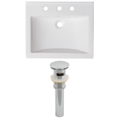Omni Ceramic 21 Single Bathroom Vanity Top Faucet Mount: 8 Centers