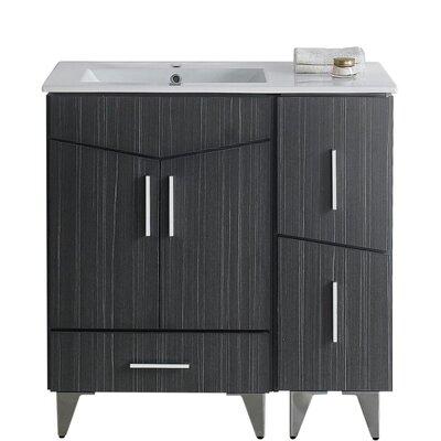 Kapp Modern Floor Mount 35.5 Single Bathroom Vanity Set