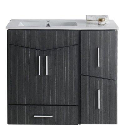 Kapp Modern Wall Mount 35.5 Single Bathroom Vanity Set