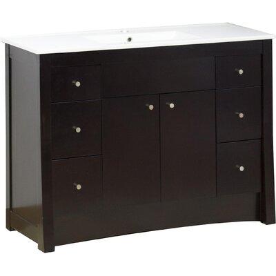 Kimbrell Transitional Floor Mount 48 Single Bathroom Vanity Set Faucet Mount: Single Hole