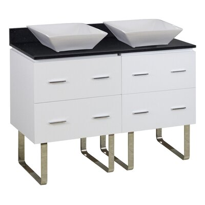 Kaplan Floor Mount 48 Single Bathroom Vanity Set Base Finish: White