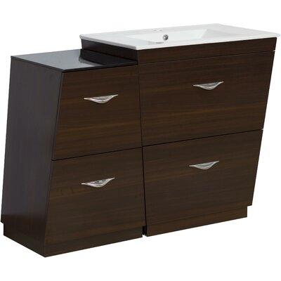 Kao Floor Mount 40.5 Single Bathroom Vanity Set Faucet Mount: Single Hole