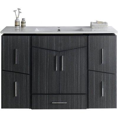 Kapp Modern Wall Mount 48 Single Bathroom Vanity Set Faucet Mount: Single Hole