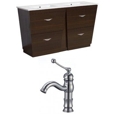 Kao Modern Floor Mount 48 Single Bathroom Vanity Set Faucet Mount: Single Hole