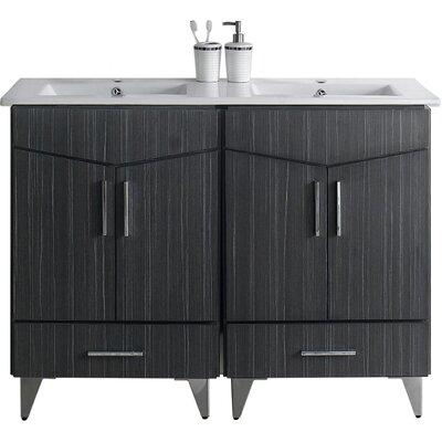Kapp Floor Mount 48 Single Bathroom Vanity Set Faucet Mount: Single Hole