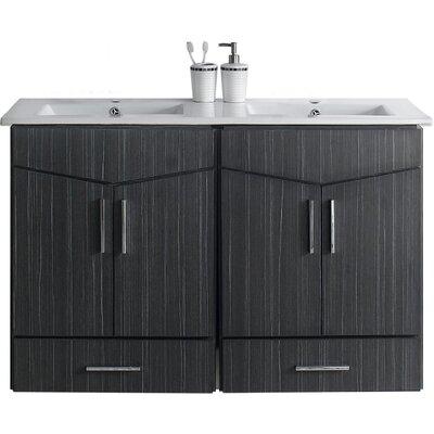 Kapp Wall Mount 48 Single Bathroom Vanity Set Faucet Mount: Single Hole
