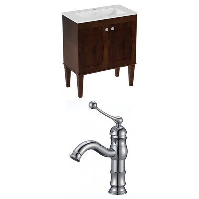 Harrop Floor Mount 30 Single Bathroom Vanity Set Faucet Mount: Single Hole